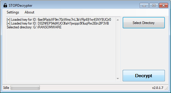 STOPDecrypter 1.0.0.1 for ransomware adobe