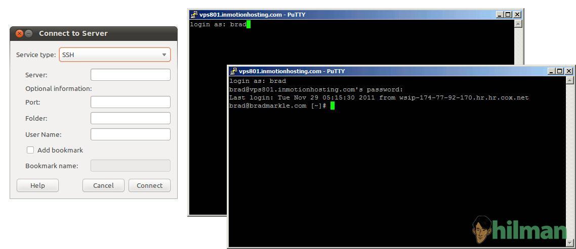 Perintah yang sering digunakan mengelola server via SSH