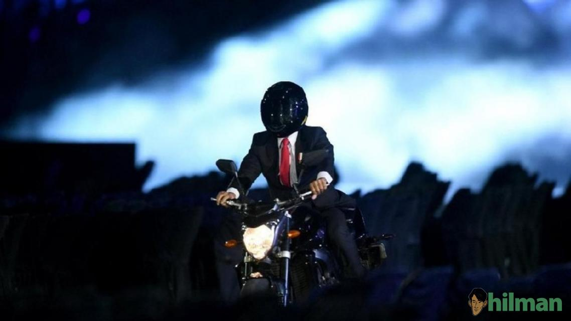 Kegaduhan Video Presiden Jokowi Naik Moge di Pembukaan Asian Games 2018