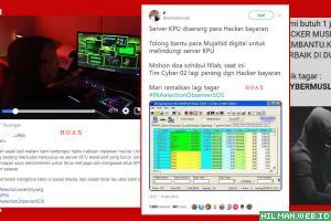 Hoax Perang Cyber Server KPU dan Tagar #INAElectionObserverSOS...